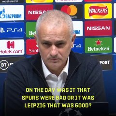 I don't like your question, I'm not going to answer - Mourinho