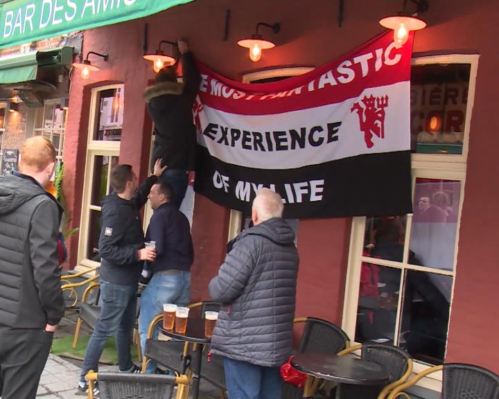 Ligue Europa - Les fans de Man United envahissent les rues de Bruges