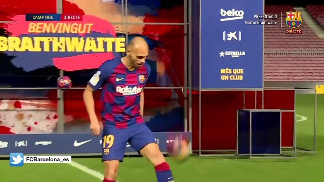 Les jongles de Martin Braithwaite au Barça