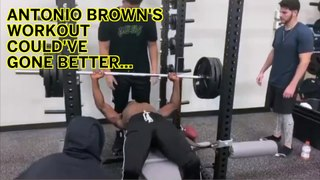 Antonio Brown Clocked In The Head By Gym Equipment
