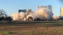 Building Structure Stands Leaned as Implosion Fails to Collapse it Properly