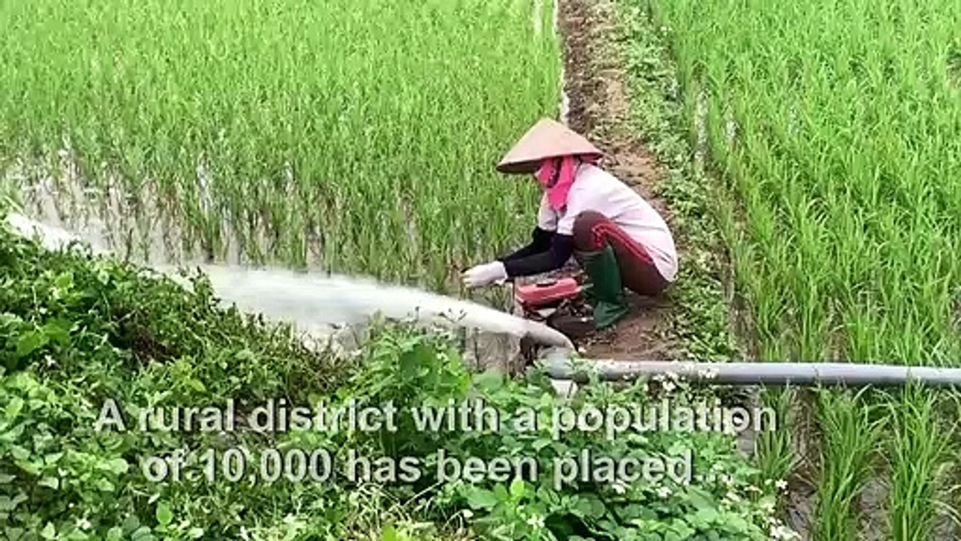 Farmer keeps up daily routine in quarantined Vietnamese district