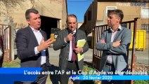 AGDE - Les explications sur le dédoublement de la voie rapide entre l'A9 et le Cap d'Agde