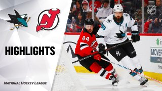 New Jersey Devils vs. San Jose Sharks - Game Highlights