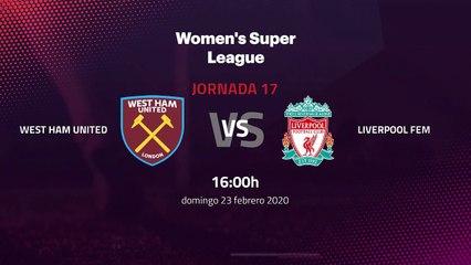 Previa partido entre West Ham United y Liverpool Fem Jornada 17 Premier League Femenina