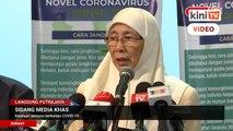 LIVE: Sidang Media Timbalan Perdana Menteri Dr Wan Azizah mengenai Mesyuarat Khas JPBP Covid-19