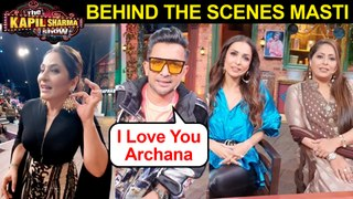 Malaika, Geeta, Terence Lewis Full On Masti With Archana | The Kapil Sharma Show BEHIND The Scenes!