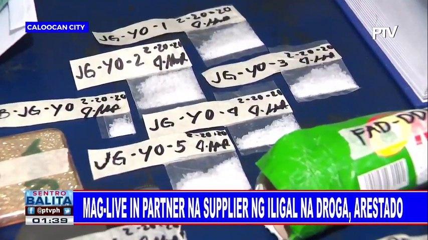 Mag-live in partner na supplier ng iligal na droga, arestado