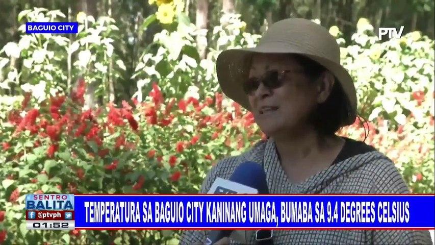Temperatura sa Baguio City kaninang umaga, bumaba sa 9.4 degrees celcius