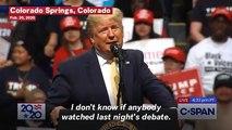 Trump Mocks Mike Bloomberg And Amy Klobuchar's Debate Performance: 'She Choked'