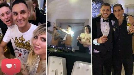 Les joueurs du PSG déchaînés à l'anniversaire de Cavani, Di Maria et Icardi