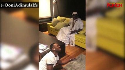 Ooni, Banters with Actor Adedimeji Lateef   Punch