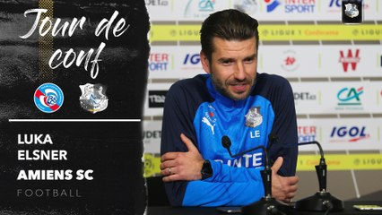 Conférence de presse d'avant Match, RC Strasbourg - Amiens SC  , Luka Elsner