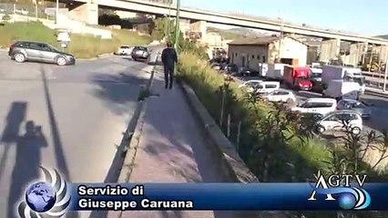 Via Piersanti Mattarella, primo pericolo scongiurato. News Agrigentotv