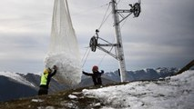 Due to Mild Winter French Ski Resorts Have Resorted to Airlifting Snow to Their Slopes, Angering French Officials