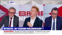 """Adrien Quatennens: """"Le programme d'Emmanuel Macron annonçait exactement l'inverse"""" sur les retraites"""
