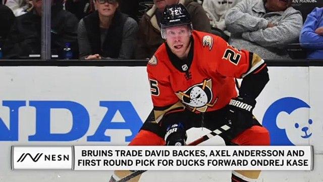 Bruins Trade David Backes & Axel Andersson, Aquire Ondrej Kase