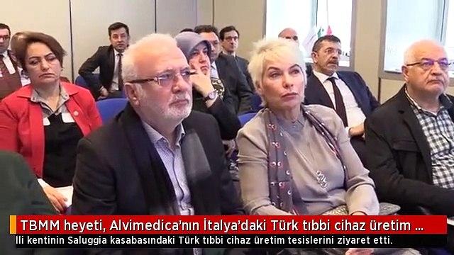 TBMM heyeti, Alvimedica'nın İtalya'daki Türk tıbbi cihaz üretim tesislerini ziyaret etti