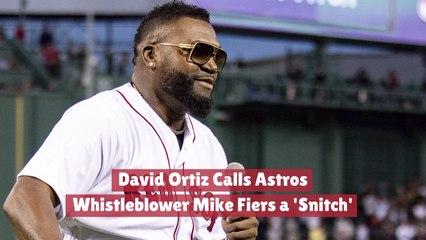 David Ortiz And A 'Snitch'
