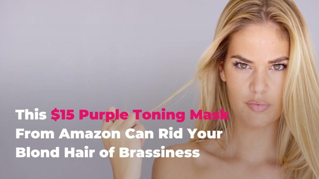 This $15 Purple Toning Mask From Amazon Can Rid Your Blond Hair of Brassiness