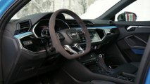 Audi RS Q3 Sportback Interior Design in Turbo Blue