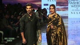 Bipasha Basu and Karan Singh Grover walk the ramp at Lakme Fashion Walk 2020