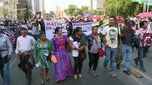 Protesta en México al año de la muerte de activista Samir Flores