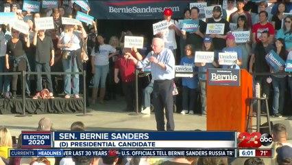 Sen. Sanders Holds Rally In Bakersfield