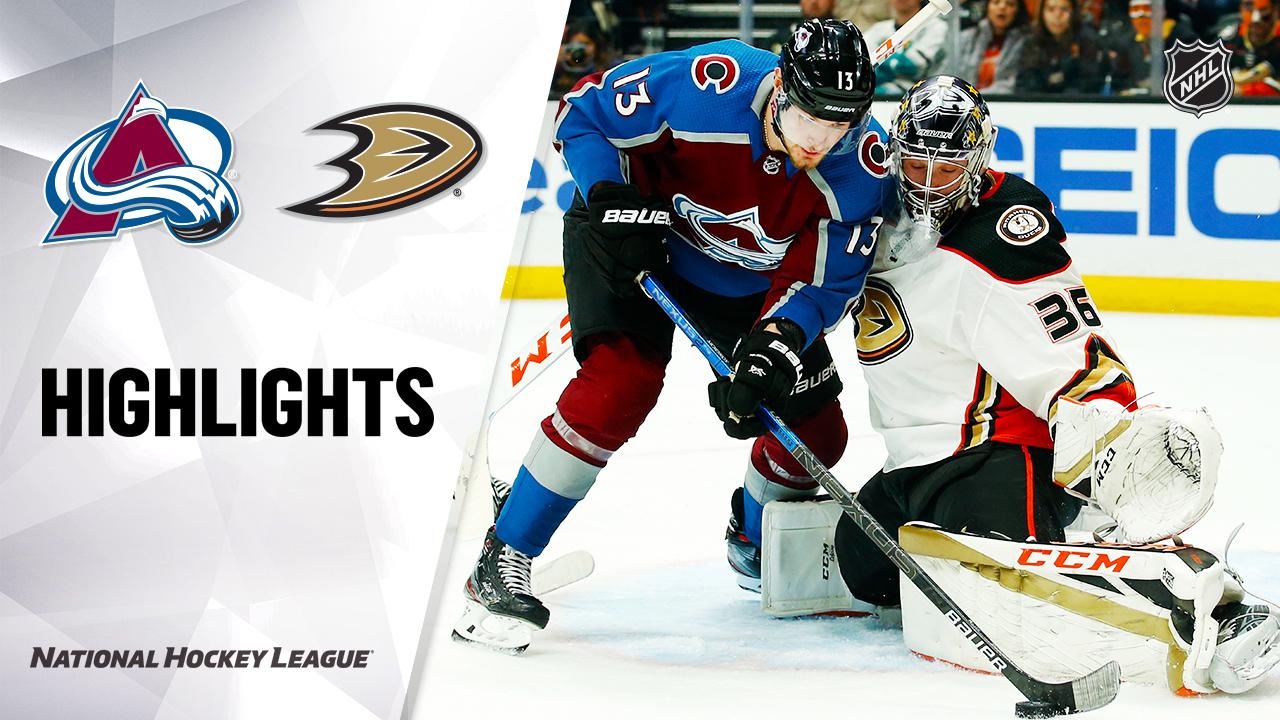 NHL Highlights | Avalanche @ Ducks 2/21/20
