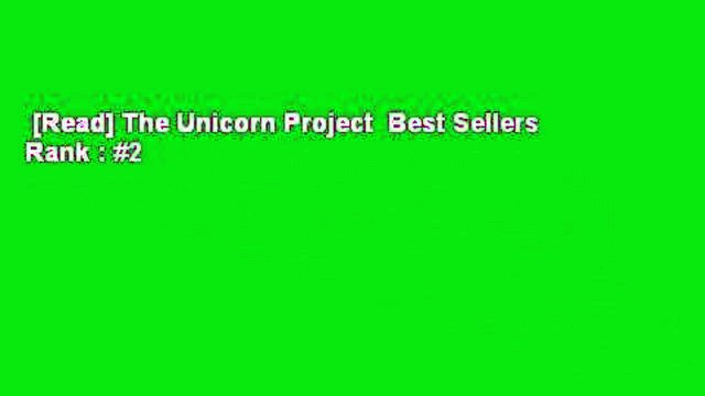 [Read] The Unicorn Project  Best Sellers Rank : #2