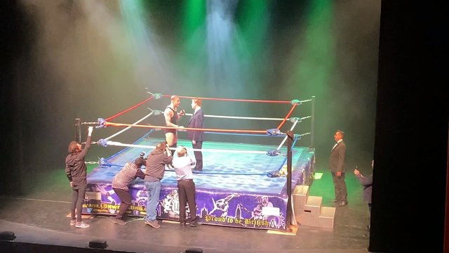 MP Paul Bristow gets in the wrestling ring