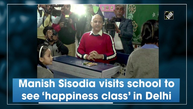 Manish Sisodia visits school to see 'happiness class' in Delhi
