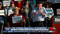 SEN. SANDERS HOLDS RALLY IN BAKERSFIELD