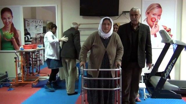 Felçli geldikleri hastaneden yürüyerek çıktılar