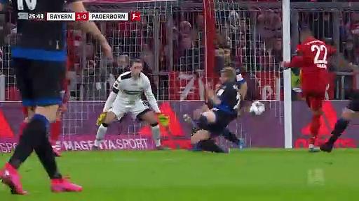 Bayern Münih - Paderborn (3-2) - Maç Özeti - Bundesliga 2019/20