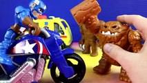 Marvel Playskool Super Hero Adventures Kid Arachnid Web Wheels & Captain America Road Racer