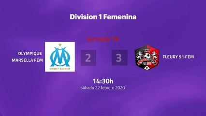 Resumen partido entre Olympique Marsella Fem y Fleury 91 Fem Jornada 16 Liga Francesa Femenina
