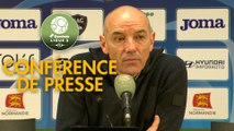 Conférence de presse Havre AC - US Orléans (1-2) : Paul LE GUEN (HAC) - Didier OLLE-NICOLLE (USO) - 2019/2020