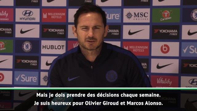 """27e j. - Lampard : """"Avec Giroud, vous êtes certain d'avoir de la qualité"""""""