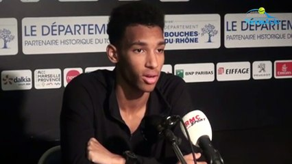 """ATP - Marseille 2020 - Félix Auger-Aliassime : """"C'est sympa de jouer en finale Stefanos Tsitsipas"""""""