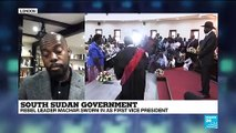 South Sudan Government : rebel leader Machar sworn in as first vice-president