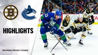 Vancouver Canucks vs. Boston Bruins - Game Highlights