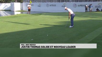 Justin Thomas solide et nouveau leader