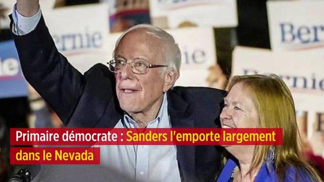 Primaire démocrate : Sanders l'emporte largement dans le Nevada