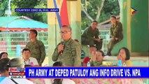 PH Army at DepEd patuloy ang Info Drive vs NPA