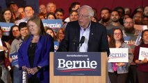 Bernie Sanders celebrates huge win