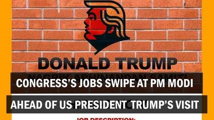 Congress's Jobs Swipe At PM Modi Ahead Of US President Trump's Visit