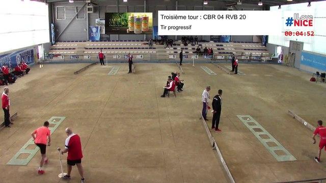 Troisième tour, tir progressif, France Clubs N1, demi-finale retour, Club Bouliste du Rocher contre Rives-Bièvre, 2019-2020