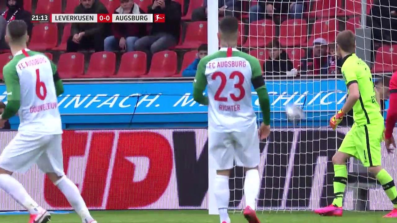 Bayer Leverkusen - Augsburg (2-0) - Maç Özeti - Bundesliga 2019/20