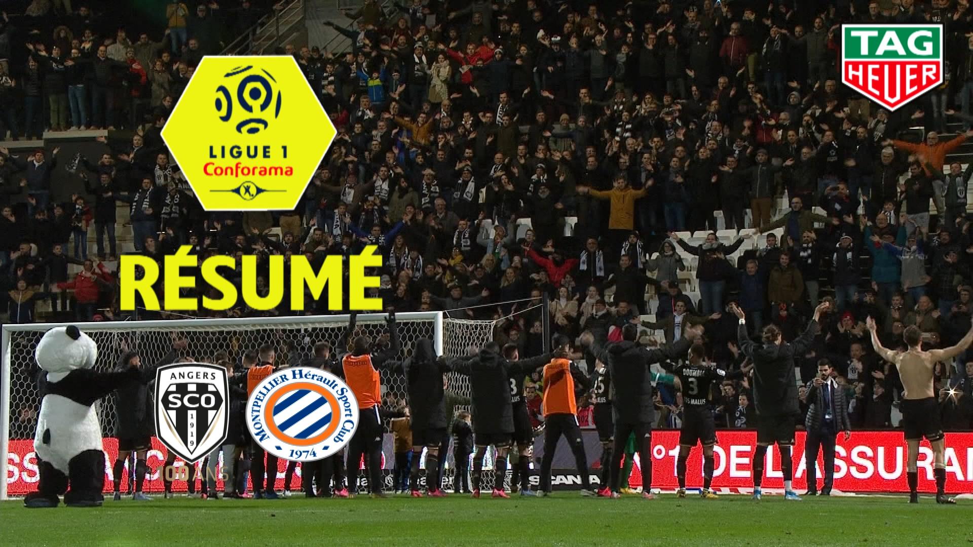 Angers SCO - Montpellier Hérault SC (1-0)  - Résumé - (SCO-MHSC) / 2019-20